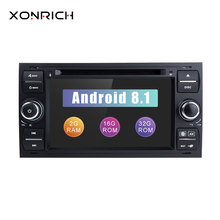 2 din Android 8,1 автомобильный dvd-плеер мультимедиа для Ford Fiesta Ford Focus 2 Mondeo 4 C-Max S-Max FusionTransit радио gps навигация