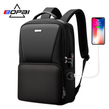 BOPAI usb charging port computer bag male business casual travel mens multi-function backpack tide bran