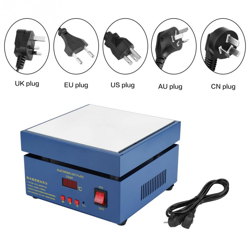 Portable Electronic Hot Plate Preheat Station Split Type for phone LED PCB