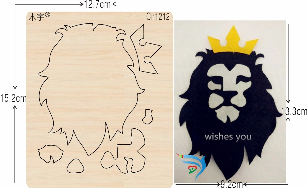 Lions and Crowns new wooden mould cutting dies for scrapbooking Thickness 15 8mm