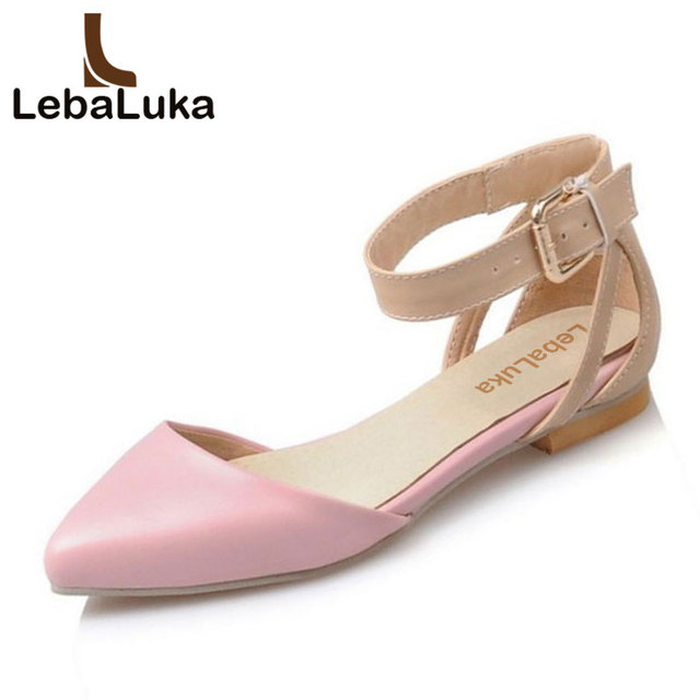 ceb3d18d72d LebaLuka Women Flats Sandals Summer Shoes Women Ankle Strap Pointed Toe Flats  Sandal Daily Party Vacation Footwears Size 34-39