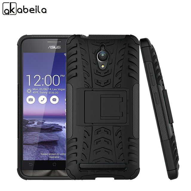 various colors d686b 9ccf9 US $5.02  AKABEILA Phone Covers For Asus ZenFone Go ZC500TG Case zenfone Go  Z00VD GoZ00VD 5.0 inch Shell Armor Hybrid Tyre Cases Bags-in Fitted Cases  ...