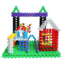 100X Kid Baby Multicolor Building Block Snowflake Creative Educational Xmas Toys 96296 #10