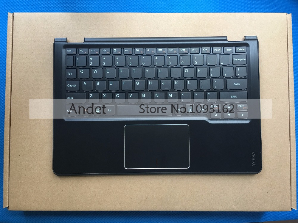 New Original For Lenovo Yoga 3 11 Palmrest Top Cover Upper Case US Keyboard With Touchpad Black AM19O000600 genuine new palmrest cover upper case with touchpad us korean keyboard gray for samsung laptop np530u4b np530u4c np535u4c