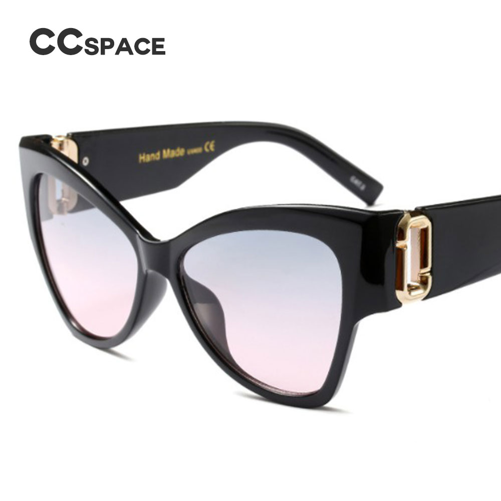 40c3bbb2051 CCSPACE 7 Colors G Cat Eye Sunglasses Gradient Men Women Big Frame Brand  Glasses Designer Fashion Male Female Shades 45400-in Sunglasses from  Apparel ...