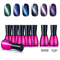 Beau Gel Manicure UV Magnet Cat Eye Gel Polish Set Gloss Foundation Base Top Coat Gel Polish with 6 Color Cat's Eye Gel Varnsih
