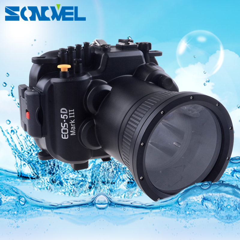 Meikon 40m 130ft Waterproof Underwater Diving Case Camera Housing Case For Canon EOS 5D Mark III 5D mk 3 with 24-105mm Lens meikon underwater diving camera waterproof housing case for canon g15 as wp dc48