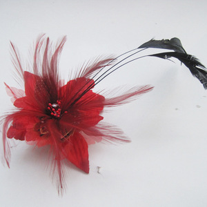 Red Flower Hair Accessories Wo