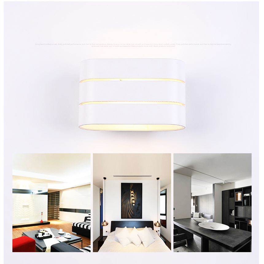цена на Fashion 3W warm white modern led wall light, Creative shape modern design wall lamp lights for home Decoration
