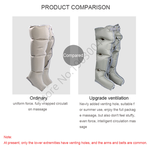 Image 3 - Breathable Air Leg Massager Elderly  Automatic Pneumatic Calf Massage Instrument Air Wave Therapy Gas Pressure Foot Machine