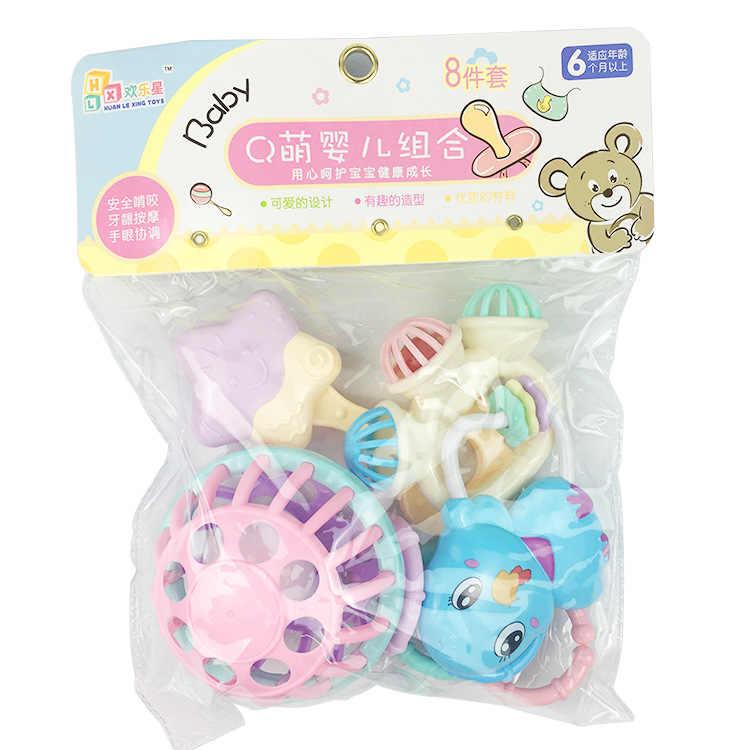 Детские игрушки Прорезыватель детские погремушки красочные радужные кольца кроватка на кровать коляску подвесная колокольчик украшения Развивающие игрушки для детей