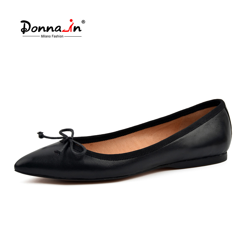 Donna-in natural kid suede women shoes pointed toe flats genuine sheep leather flat shoes soft ballerina ladies shoes meotina brand design mules shoes 2017 women flats spring summer pointed toe kid suede flat shoes ladies slides black size 34 39
