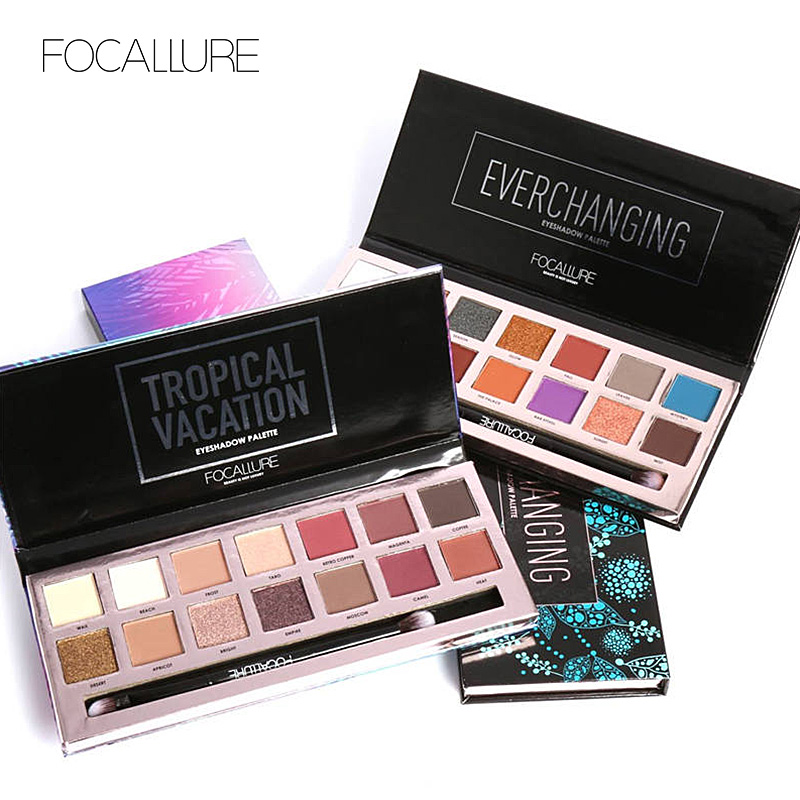 Focallure 14 Color Eyeshadow Palette Powder Professional Mak