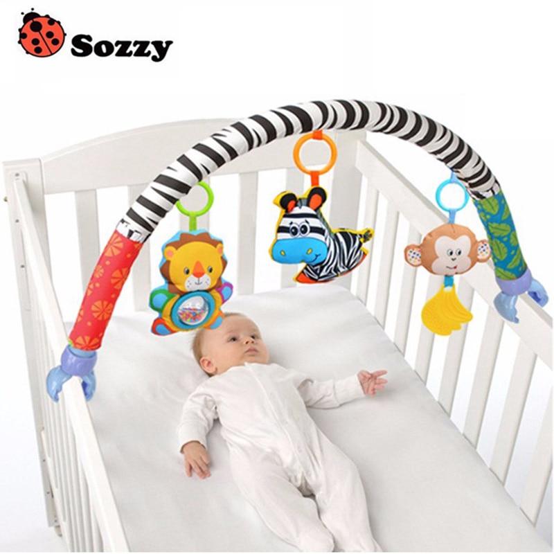 0-12M kūdikio lovelė Žaislų vežimėlis Rattles Seat Take Along Travel Arch Toys for Pram