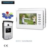 HOMSECUR 7 дюймов видеодомофон с режим отключения звука для домашней безопасности для квартиры