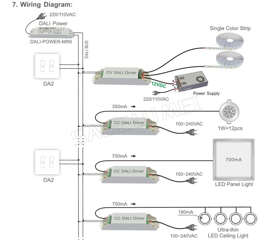 touch dimmer wiring diagram ltech da2 touch panel 2 roads on off touch dimmer dali series  ltech da2 touch panel 2 roads on off
