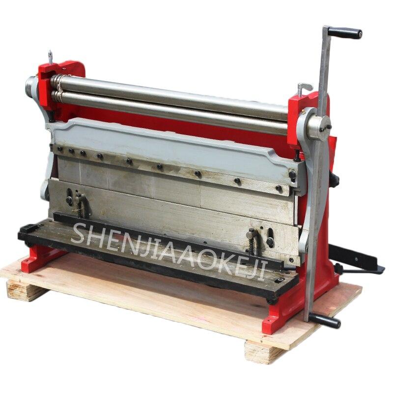 Bending Machine 610mm Manual Shearing Board Machine HSBR-610 Rolling Machine Three In One Copper Iron Aluminum Plate Machine 1pc