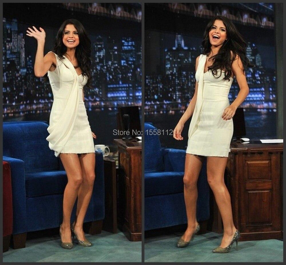 Kim Kardashian Dress With One Shoulder Sleeveless Ruched Mini ...