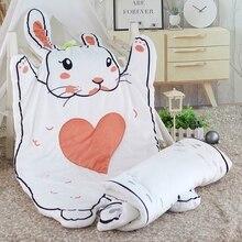 Мультяшные цельные хлопковые детские коврики для младенцев, детские игровые коврики для комнаты, стильные детские коврики для сна с кроликом, куклы, подарки на день рождения/Рождество