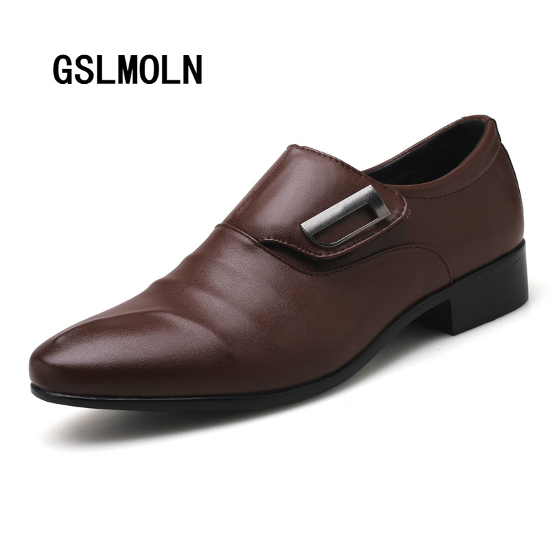 Brand New Men's Dress Shoes Classic Point Toe Oxfords for Men Fashion Mens Business Party Shoes Men Formal Shoes Leather Social hot sale luxury brand men classic oxfords italian mens leather dress shoes new men formal shoes black white patch flowers 39 46