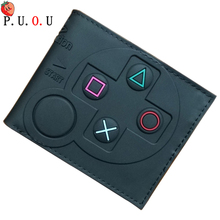 PUOU 2019 Hot 3D Designs Games Purse Anime Cartoon Playstation PVC Wallets for Students Boy Girl Money Coin Holder Short Wallet