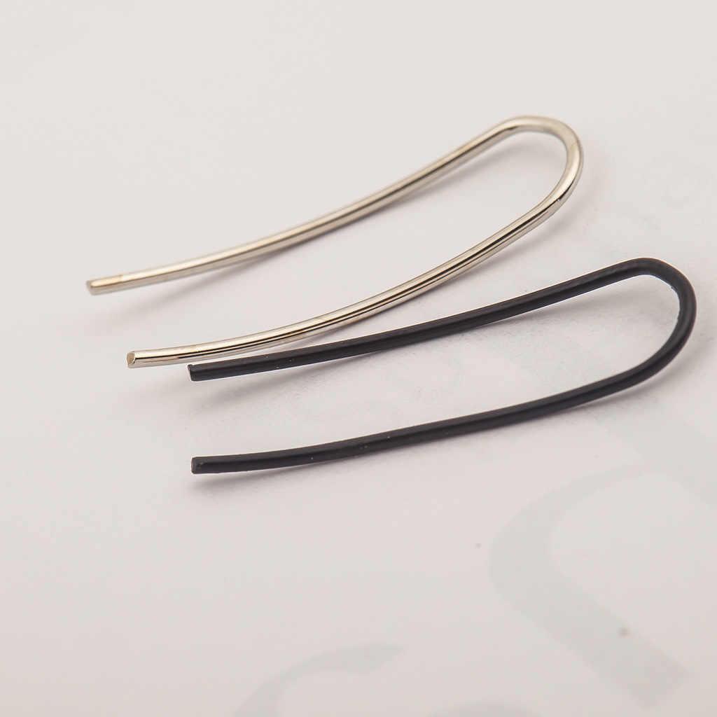 Versão coreana de moda criativa simples brincos personalidade tendência em forma de u senhora orelha clipe brincos atacado