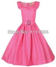 free shipping ROCKABILLY KLEID PETTICOAT POLKA DOTS ABENDKLEID Tartan rockabilly dress summer style dress