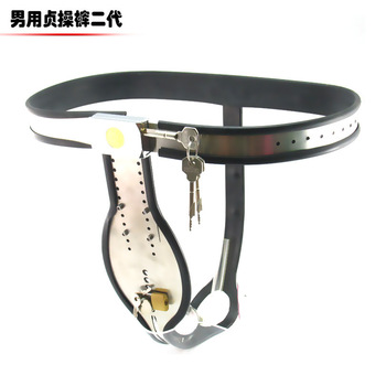 Top quality,Adjustable Stainless Steel T-shaped male Chastity Belt Devices Hide cock cage Bondage Sex Toys For men