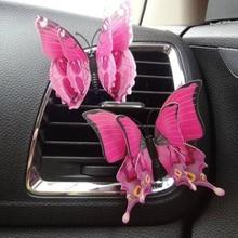 Автомобильный Стайлинг 3D бабочка автомобильный освежитель воздуха для автомобиля, Парфюмерия 4 шт./компл. Для женщин духи ароматизатор в авто luchtverfrisser