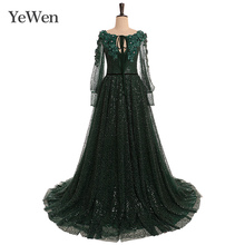Grün Elegante Abendkleid Smaragd Mode Abendkleider Lange Formale Kleider Abendkleid 2020 Kleider Für Besondere Anlässe YW013
