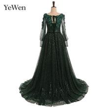 Green Elegant Evening Dress Emerald Fashion Evening Dresses Long Formal Dresses Evening Gown 2020 Special Occasion Dresses YW013