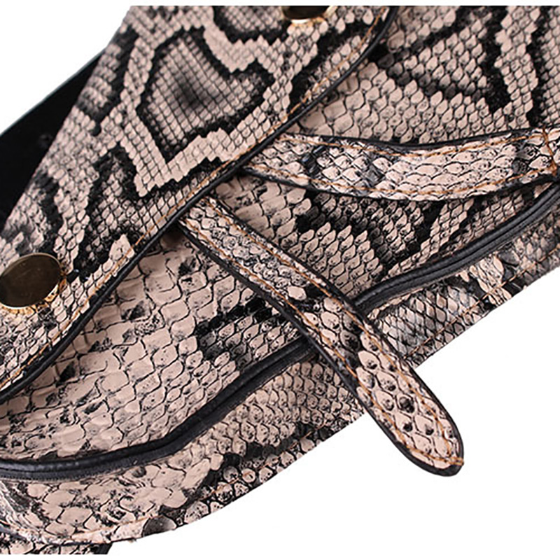 Waist Packs Pu Mini Mobile Phone Waist Bag Snakeskin