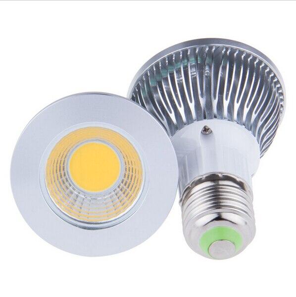 Hot Sale 10pcs LED PAR20 COB Bulbs E27 9W Cold Warm White 110V 220V LED PAR 20 Spotlights Lamps Bulbs