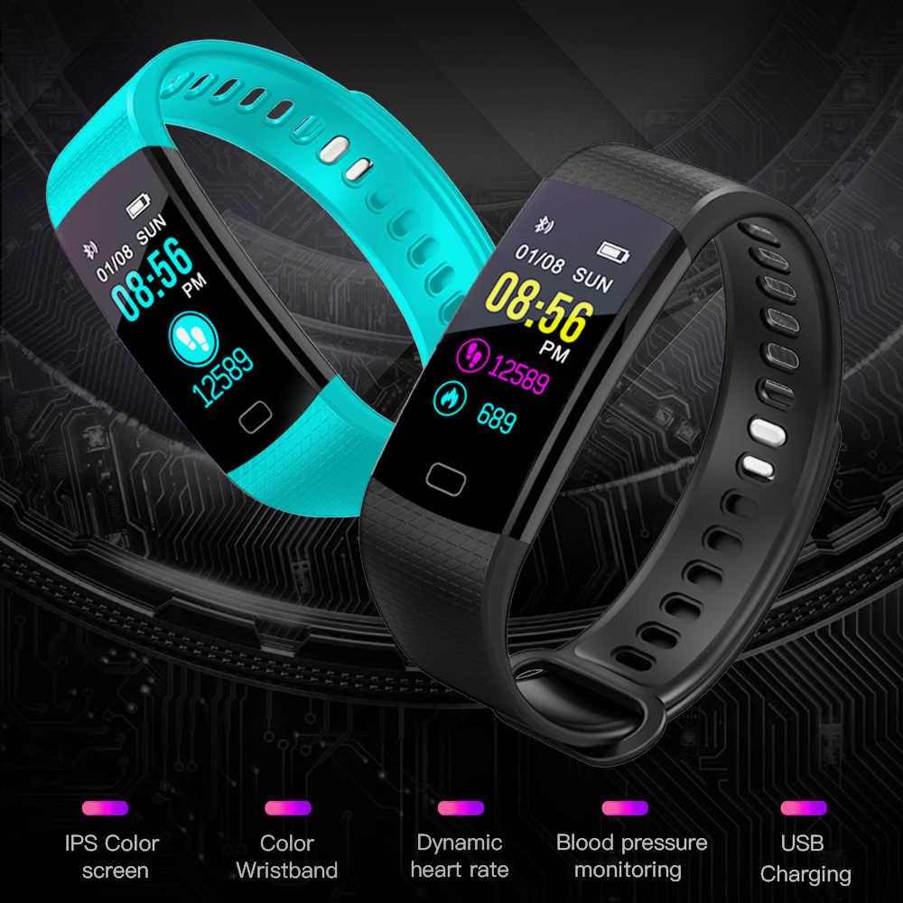 BANGWEI חכם עמיד למים ספורט שעון גברים ונשים שינה תזכורת לב שיעור זיהוי מד צעדים USB מטען + תיבה