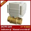 1 2 DC9 24V 7 Wires Electric Valve BSP NPT Thread DN15 Brass Electric Water Valve