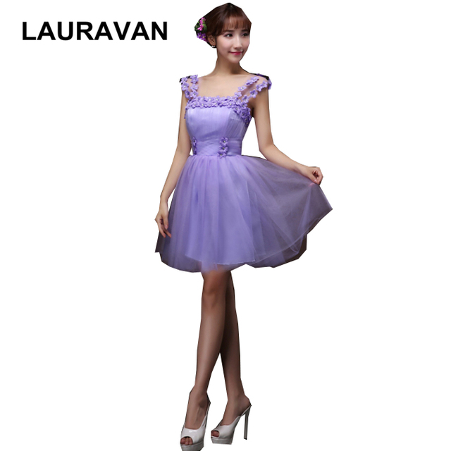 short light purple adult bridesmaid dresses sweetheart straps lilac tulle  party dress for wedding guests free shipping baa620ed230e
