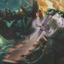 [LOL] the Saltwater Scourge Gangplank Weapon Toy Keychain Model Dagger Knife Alloy Pendant Key Ring Collector Player Fan Gift