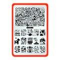 CICI y SISI Plantillas de Uñas Uñas de Arte de Encaje/Flor Sexy 16 Diseños de Placas de Estampación Nail Art Sello NUEVO 10x15 cm Plantillas Serie 20