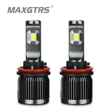 2x Double Color H8 H11 H16(JP) H7 9005 9006 HB3 HB4 50W 5000Lm Car LED Fog Headlight Bulb 3000K 6000K Lamp DRL White Gold(China)