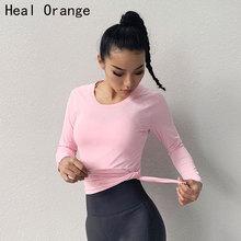 2019 New Sports Tops Gym Women Fitness T Shirt Woman Long Sleeve Yoga Top Mesh Womens Sport Wear