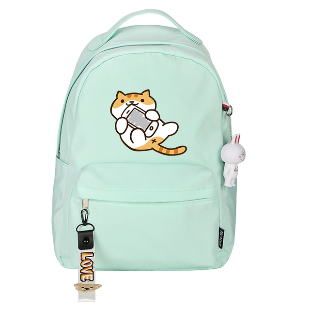 High Quality Neko Atsume Women Cat Backpack kawaii Cute Backpack Pink School Bags Cartoon Travel Backpack Laptop Backpack