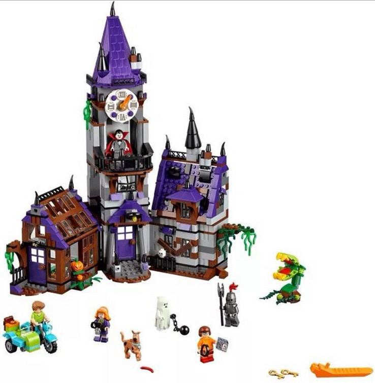 Bela 10432 Scoobyed Doo Mysterious Ghost House Minifigures Building Block Minifigure Toys Compatible With Legoe bela 10429 scooby doo mummy museum mysterious plane minifigures building block minifigure toys best legoelieds toys