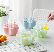 Creative style Ice Lolly Cream Maker Form Popsicle Molds Yogurt Ice Box Fridge Ice Cube Ice Cream Tray Tools