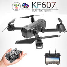 Newest kf607 Quadcopter with Wifi FPV 4K/1080P HD Dual Camera Optical Flow Selfie Drone Foldable Mini Dron VS SG106 visuo xs816