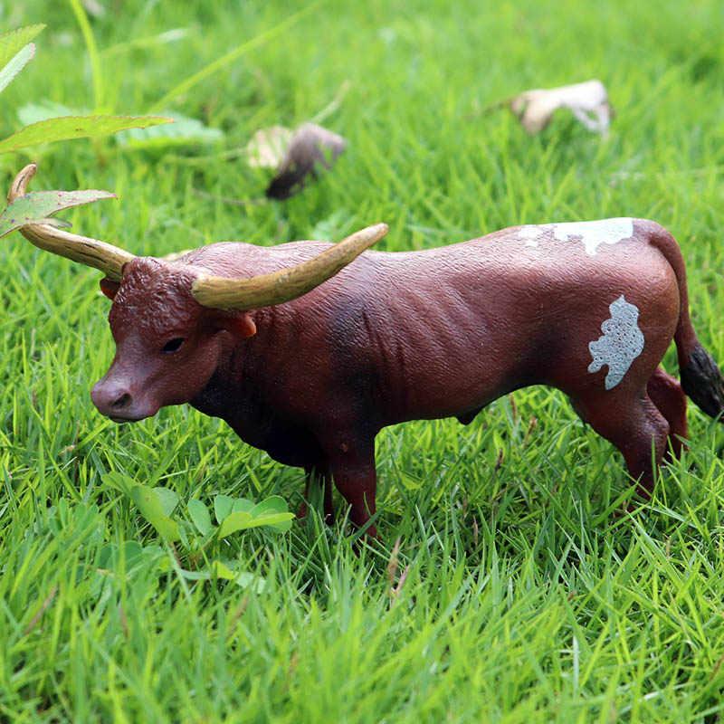 Modelo de Simulação de Animais de Fazenda Gado Oenux Original Bezerro Da Vaca Touro OX Animal PVC Action Figure Coleção Toy Educacionais Para O Miúdo