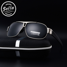 Sella Classic Fashion Square Men Polarized Sunglasses Aluminum Magnesium Frame Driving Eyewear Traval Fishing Oculos Gafas UV400