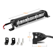 12 Volt 18W LED work light bar lamp 12V led tractor work light off road 4X4 24V led offroad light bar spot flood working