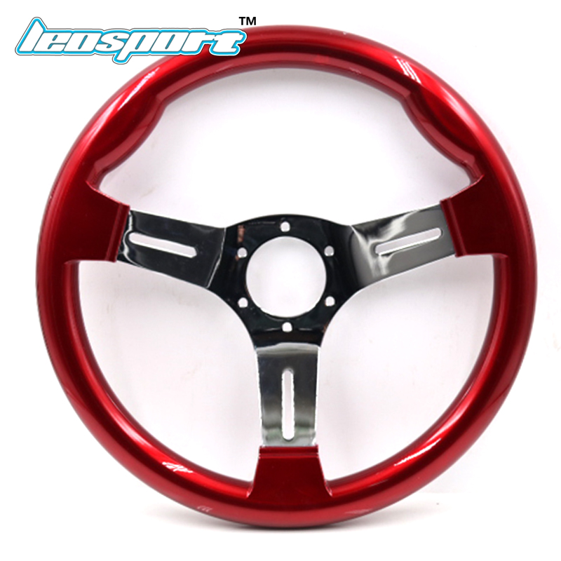 New 13inch (330mm) Racing Steering Wheel ABS plastic and Iron frame red color game Steering Wheel