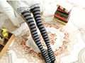 2014 News Autumn winter new European Korean fashion personality splicing zebra female  pantyhose