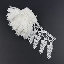 2 Yards Off White Polyester Flower Lace Tassels Trims Applique Sewing Craft S10824(China)